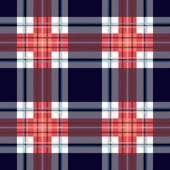 Seamless Scottish plaid checkered vector pattern.