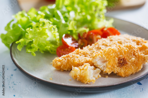 Fried fish fillet with bread crumb for healthy meal for Fried fish with bread crumbs