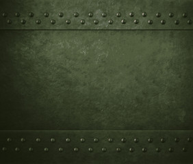 Wall Mural - green military metal armor background