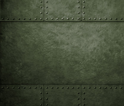 metal green military background
