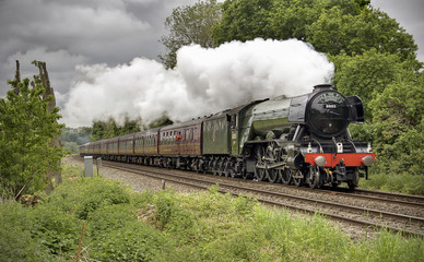 Flying Scotsman at Shere, Surrey 2016
