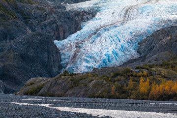 Photo sur Plexiglas Glaciers Exit Glacier, Kenai Fjords National Park, near Seward, Alaska, USA