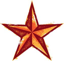 3D Western Star Vintage Design
