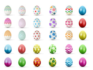 Easter Egg with points. Vector illustration.