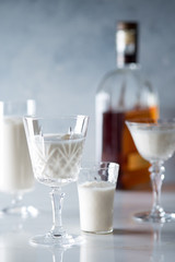 Bourbon Milk Punch in Glasses