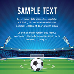 Abstract Sport Soccer Background with Copy Space