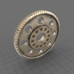 Aged Brass Spur Gear