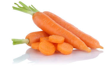 Karotten Möhren Karotte Möhre geschnitten frisch Gemüse Freis