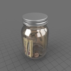 Jar Glass Money 01