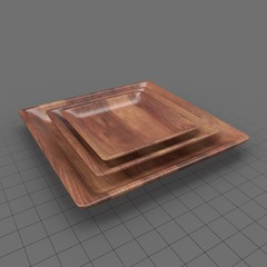 Serving Plate Wooden Square
