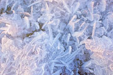 Winter ice texture