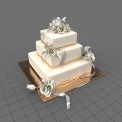 Wedding Cake Square 01