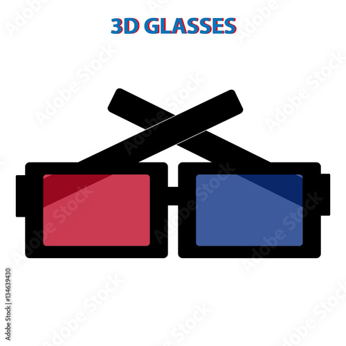"""3D GLASSES on white background"" Stock image and royalty ..."