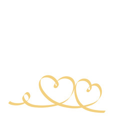 zwei goldene Herzen