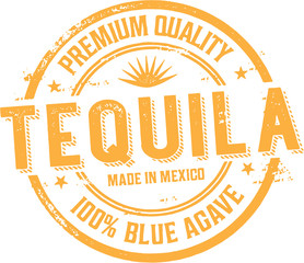 Vintage Tequila Alcohol Label