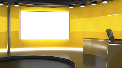 television studio background