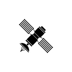 Satellite solid icon, navigation and communication, vector graphics, a filled pattern on a white background, eps 10.