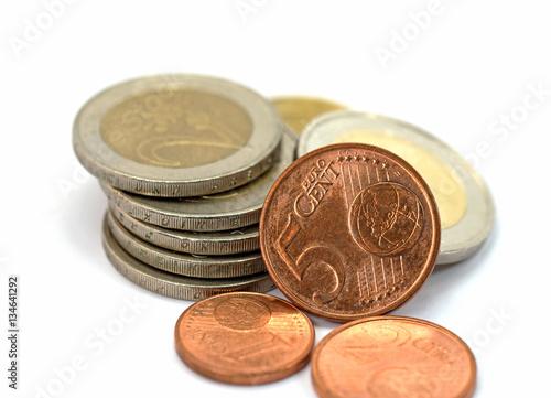 Kleingeld, Hartgeld, Euro Stockfotos und lizenzfreie