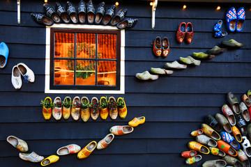 Decorations in the village of Zaanse Schans, Holland
