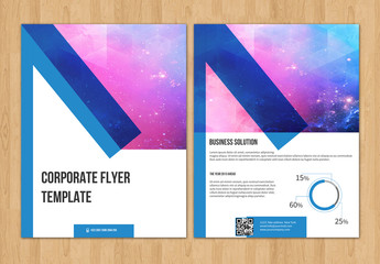 Overlapping Border Flyer Layout