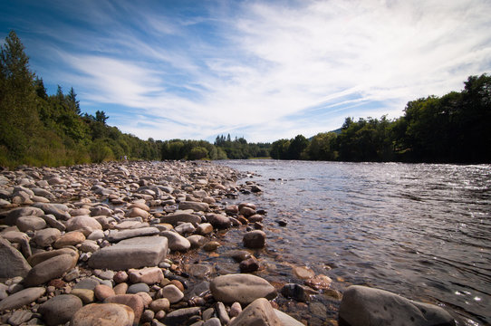 Fast flowing Scottish salmon fishing river