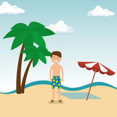 man tourist avatar character vector illustration design