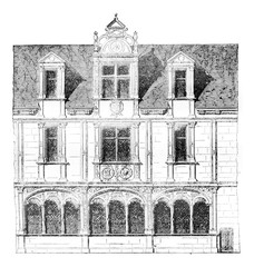 Fragment of a house on Rue Saint-Paul, Paris, demolished in 1835