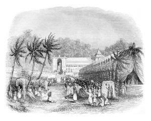Procession of the Buddha's tooth, On the island of Ceylon, vinta
