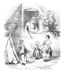 1842 Exhibition of Painting, Small Piemontais by Elisa miss Blon