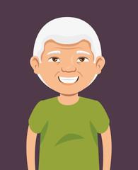 grandpa avatar character icon vector illustration design