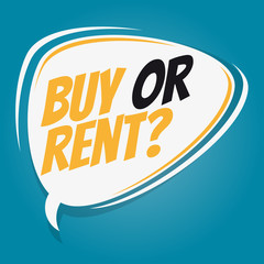 buy or rent retro speech balloon