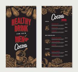 Cocoa Engraved Restaurant Menu Template