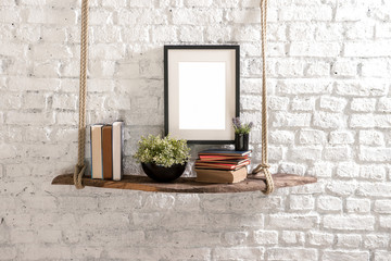 brick wall concept interior hanger decoration