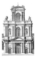 Portal of the church of Saint Gervais, in Paris, beginning in 16