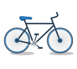 bicycle sport isolated icon vector illustration design