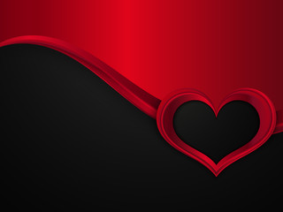 Valentines Day Design. Vector Metal Background With Wave And Frame of Heart.
