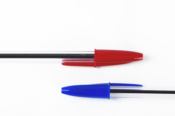 Red and blue pen