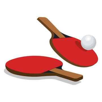 ping pong sport emblem icon vector illustration design