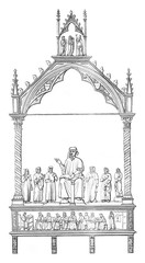 Tomb of Cino da Pistoia, by Andre of Pisa, in the church cathedr