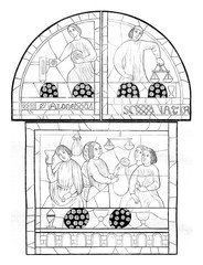 Thirteenth century, Stained glass windows of the cathedral of Le