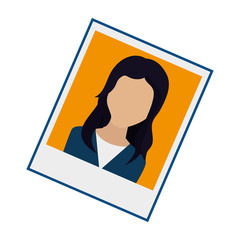 Photo of person for document vector illustration design