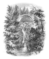Cascade de la Roche, near the Puy, department of Haute Loire, vi