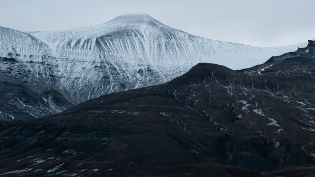 Artic mountains in Svalbard