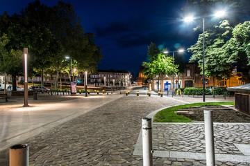 Vue nocturne d'Albi, France
