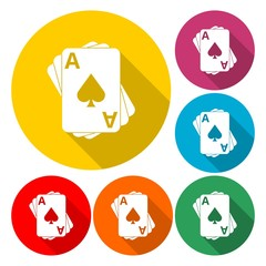 Playing cards icon - vector Illustration