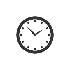 Round clock icon isolated on white background