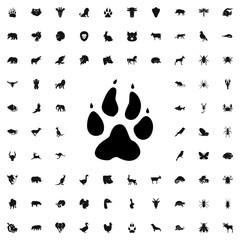 animal paw icon illustration