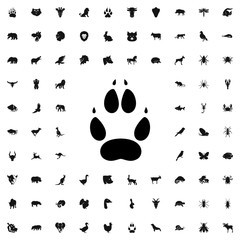 animal paw icon illustration