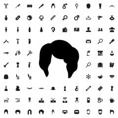 woman hairstyle icon illustration
