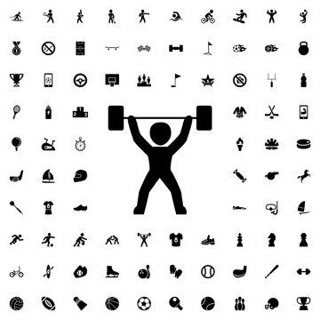 power lifter icon illustration